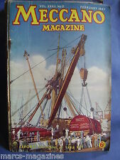 MECCANO FEBRUARY 1947 FAMOUS LIBERTY SHIPS CLIPPER WINGED ARROW HEATHROW