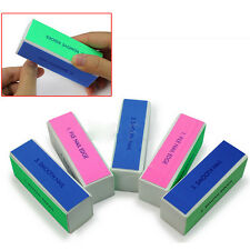 5 Pcs Nail Art Manicure Pedicure 4 Way Shiner Buffer Buffing Block Sanding Files