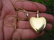 Signed Madelyn Gold Sterling Silver 925 HEART Perfume Bottle Necklace Pendant