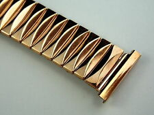 """5 1/4"""" Rose Gold filled vintage watch band New old stock never used 19mm or 3/4"""""""