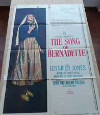 The Song of Bernadette folded movie poster, One Sheet, 1958, Franz Werfel, U.S.A