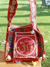 OM SYMBOL EMBROIDERY SHOULDER BAG B 355 x 355mm Wicca Pagan Witch Goth Yoga
