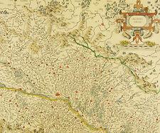 ALSACE ALSACIA INFERIOR par Gerard Mercator PLAN 1630 Elsass Alzacja Alsazia