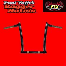 Paul Yaffe Originals Black 14 Inch Monkey Bar Bars Handlebars HD Touring Bagger