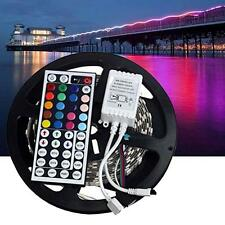 5M RGB 300LEDs 5050 SMD LED Strip light Lamp 44key Remote 12V 2A Power Supply TR