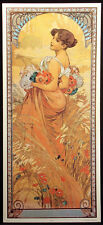 "Alphonse Mucha ""Summer"" Art Nouveau 1989 Gallery Graphics vintage poster repro"