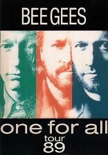 BEE GEES 1989 ONE FOR ALL TOUR CONCERT PROGRAM BOOK / BARRY GIBB / EX 2 NM