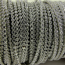 SILVER - 4mm Trim Sew on  Bead String Trimming Wedding - 2 metres pack