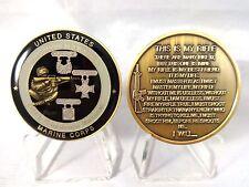 USMC Rifleman's Creed Expert Sharpshooter Marksman Challenge Coin Marine Corps