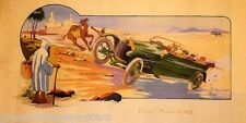 1913 SPEED CAR RALLY RACING DESERT CIRCUIT MAROC VINTAGE POSTER REPRO LARGE
