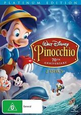NEW & SEALED Disney DVD PINOCCHIO  PLATINUM EDITION  R4 PAL