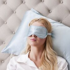 Jasmine Silk Pure Silk Filled Sleep Eye Mask Sleeping Eye blindfold Blue