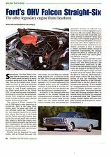FORD'S OHV FALCON STRAIGHT-SIX ENGINE  -  GREAT ARTICLE