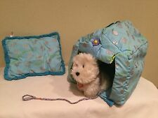 RETIRED AMERICAN GIRL PET DOG, COCONUT, COLLAR, NAMETAG, DOG HOUSE, PILLOW, LOT