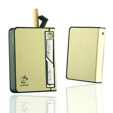 Metal Cigarette Case with USB lighter Rechargeable Windproof Electric Lighter...