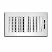 Truaire 102M 10X6 2-Way Supply Sidewall or Ceiling Register Grill White
