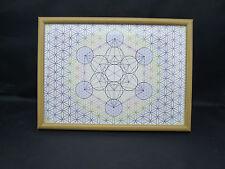 Progettazione di stampa di Metatron cubo all' interno del fiore della vita, INCORNICIATO con vetro * CBP