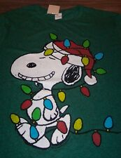 VINTAGE STYLE PEANUTS SNOOPY CHRISTMAS LIGHTS T-Shirt MEDIUM NEW w/ TAG