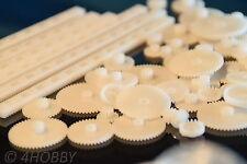 67-teiliges Zahnrad-Zahnstangen-Set Kunststoff viele Größen Zahnräder Modellbau