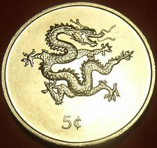 Liberia 2000 5 Cents Gem Unc~Dragon Coin~Free Shipping
