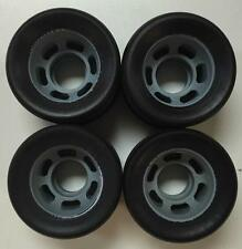 RADAR QUAD ROLLER SKATE WHEELS IN BLACK - SIZE:62MM - HIGH REBOUND SKATING WHEEL