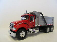 FIRST GEAR 1/64 SCALE MACK GRANITE RED CAB SILVER BED/STRIPES (SAME SCALE DCP)