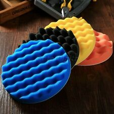 4pcs 7 inch Sponge Waffle Polishing Buffer Pad Kit for Auto Car Polisher