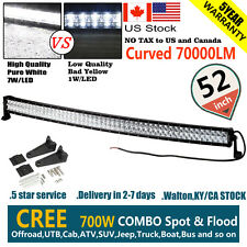 "CREE CURVED 6D+ 52""INCH 700W LED WORK LIGHT BAR SPOT FLOOD COMBO OFFROAD VS 7D+"