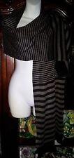 """NEW DKNY Black/Brown Striped Scarf/Wrap/Shaw 90 x 19"""""""