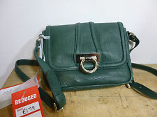 BNWT Pure Collection  green leather cross body handbag