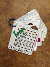 20 Visual Schedule Flash Cards Daily Routine Pecs Special Needs Autism