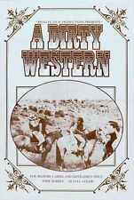 Dirty Western Poster 01 A3 Box Canvas Print