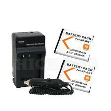 2 Battery + Charger Combo Kit For Sony NP-BN1 Cyber Shot DSC-W530 W570 TX5 TX9