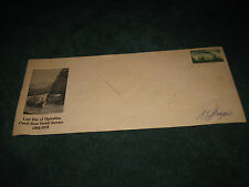 VNTG LAST DAY OF OPERATION CANAL ZONE POSTAL SERVICE ENVELOPE WITH ORIG. STAMP