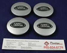 LAND ROVER OEM CENTER CAPS DISCOVERY LR3 RANGE BLACK SET OF 4 PIECES