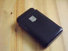Monogram Personalized Black Leather 4 Finger Cigar Case Cedar Lining Initial G