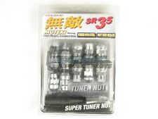 Muteki SR35 Extended Closed Ended Wheel Tuner Lug Nuts Chrome Silver 12x1.5mm