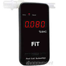 Pro Fuel Cell Sensor Breathalyser Alcohol Breath Tester Detector Blood Alarm BAC