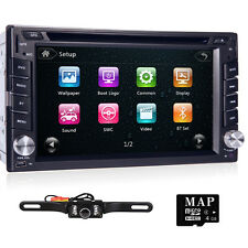 "6.2"" GPS Navigation HD Double 2DIN Car Stereo DVD Player BT Touch Screen+Camera"