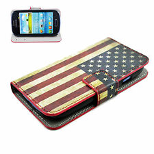 Wallet Style Leather Card Slot Cover Case For Samsung Galaxy S3 III Mini i8190