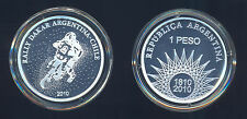 ARGENTINA CHILE RALLY DAKAR 2010 SILVER CROWN 1 $ PESO 2010 PROOF 750 MINTED