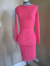 JEAN-PAUL GAULTIER Pink Ruched Side Shirred Tulle DRESS, Size Medium