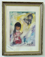 Ted DeGrazia Vintage Art Print Double Signed By Artist 1974 Gallery of the Sun