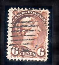 VC217 CANADA - SMALL QUEEN 6c BROWN #39 USED, F+ LIGHTLY CANCELLED $35.00