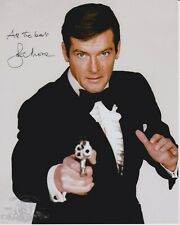 ROGER MOORE signed autographed 007 JAMES BOND photo