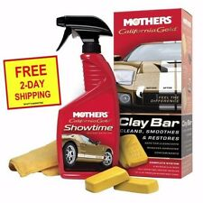 NEW MOTHERS CALIFORNIA GOLD CLAY BAR KIT 07240 with FREE 2 DAY SHIPPING