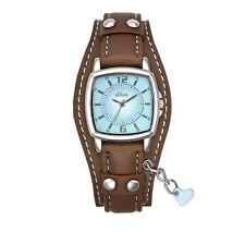 s.Oliver Damenuhr SO 1339 LQ mit Lederarmband braun jugendlich Uhr + Herz