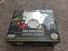 Marvel Cinematic Universe Phase One Avengers Assembled  NEW 10-DISC BLU-RAY / 3D