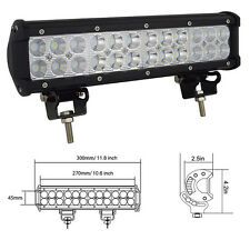 72W 12inch Led Work Light Bar Flood Spot Suv Boat Driving Lamp Offroad 4WD Car