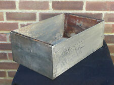 Vintage Metal Industrial Storage Box Bin Drawer Tool Box Hobbies Crafts Garage